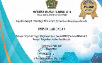 UNISDA Raih Penghargaan Kopertais Award